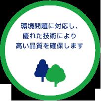 環境問題に対応し、優れた技術により高い品質を確保します